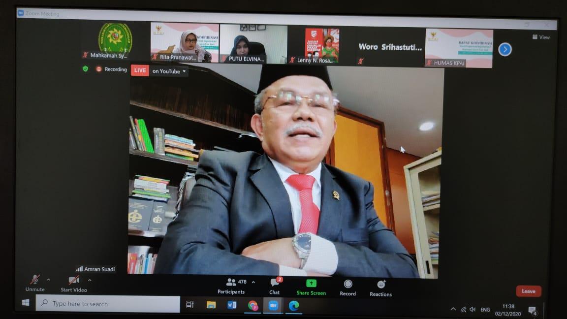 MS Kota Subulussalam Mengikuti Rakor Hasil Pengawasan Implementasi Dispensasi Kawin Melalui Vidcon